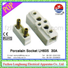 Socket LH605 30A porcelain/ceramic socket sockets and switches