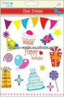 party plastic stamp for scrapbook