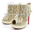 shinning gold spike woman boots 2013