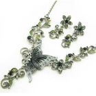 retro necklace 2012 trendy bridal necklace accessory butterfly necklace