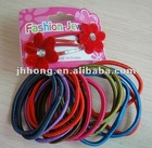 2012 hot selling elastic hairbands and clip set, fashion accessory