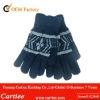 Acrylic Winter Kids Jacquard Five Finger Gloves