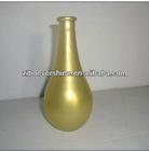 golden color spray glass vase