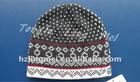 Jacquard knit beanie hat LM-HT-245