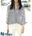 lady fashion womens clothing ladies office wear two pockets shirt top ladies blouse with collar T201369