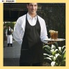 7.5oz 65/35 poly cotton twill black V neck apron(YXAPR-1110203)