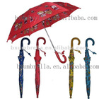 "19""X8ribs stick auto opening children umbrella"