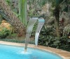 stainless steel swimming pool waterfall SEG0926