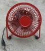 4 inch mini USB fan(EMC)(Red)