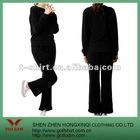 100%Polyester black women sport suit