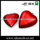 heart shape usb flash drive, custom usb flash disk with heart shape