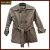 PU material boys coats with belt children coats boys outwear