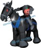lighted halloween decoration inflatable 7.6' tall headless horseman
