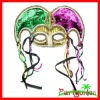 Mardi Gras Sequin Jester Mask