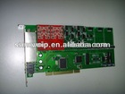 Industrial TDM800E 8 Port fxs fxo PCI-E Asterisk Card