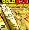 Golden bar USB flash drive