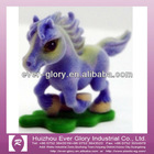 newest various kinds pvc flocked horse toy