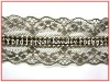 New fashion sew on metallic lace trim for dresses