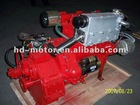 Inboard Marine engine with gearbox is for yacht, sail boat