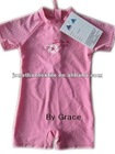 UV protection! Girls' short sleeve sunsuits