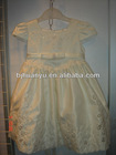 young girls short sleeve dress girl cream long lace dress