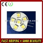 LED G4 light;5pcs 5050 SMD LED;1.2W;DC12V input