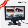 7-inch four division display, quad mode monitors