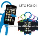 New! Humanoid Silicone Retractable Holder Supporter Wrapper for Mobile Cell Phone