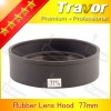 professional 77mm rubber lens hood