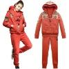(3 in1) plus size fashion women orange tracksuit