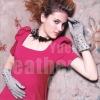 Fashion lady leather gloves