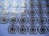 new custom nickel logo printing metal sticker