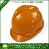 Plastic Anti-Crash Orange Mine Worker Use/Building Site Use Protective Safety Helmet