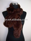 knitted rabbit fur scarf