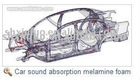 Car sound absorption melamine foam