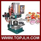Pneumatic pin button machine