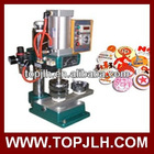 Pneumatic pin button machine