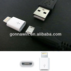 Lightning To Micro USB Adapter For Iphone5