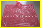 PE50 red disposable rain poncho patterns