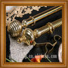 window curtain golden pipe