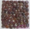 red pebble tiles