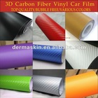High Quality 3D Texture Carbon Fibre Vinyl Twill Car Wrap Sticker Bubble Free