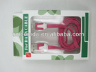 Rose Red 3ft Flat Noodle 1M Data USB Cable for iPhone 5G Manufacture