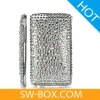 Diamond Rhinestone Bling Plastic Hard Case for iPod Touch 2 / 3 (Silver)