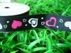 25mm Heart printed grosgrain ribbon