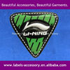 Custom shining logo PVC label for sportswear