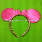 2 pcs Lovely Minnie Mouse Costume Dress-Up Ears Headband Red Children Gift