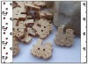 Cute wood cartoon button kids garment accessory train button BT001