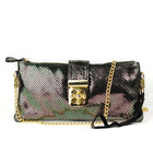 Shiny Delicate Sunflower Seeds Pattern High-quality Leather Mini Shoulder Bag Silver Grey