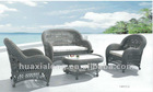 Wicker sofa sets/Nobal Grey Villa Terrace/Patio France Old style sofa